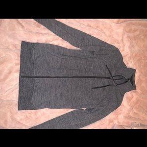 Gray zip-up LuLulemon Sweatshirt